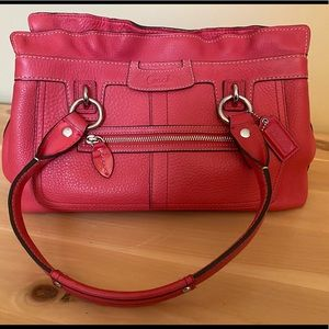 Coach Coral Leather Bag